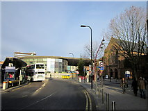 SP0198 : Church & Bus Station Walsall Town Centre by Roy Hughes