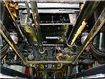 SU1484 : Beneath a railway locomotive, Steam Museum, Swindon by Brian Robert Marshall