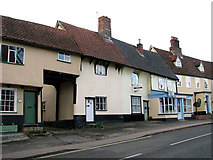 TM1763 : Cottages in The Street, Debenham by Evelyn Simak