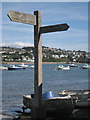 SX9272 : Templer Way signpost, off The Strand, Ringmore by Robin Stott