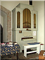 TM1861 : St Andrew's church in Winston - church organ by Evelyn Simak