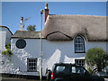 SX9272 : Thatched house on Ringmore Road hill: 2 by Robin Stott