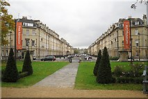 ST7565 : Great Pulteney Street from the Holburne Museum by Rose and Trev Clough