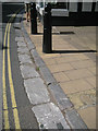 SX9372 : Kerb and channel of Torquay 'marble', Fore Street by Robin Stott