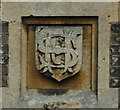 TQ2590 : Stephens family monogram, Avenue House, Finchley by Julian Osley