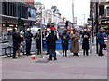 TQ3189 : Salvation Army band, Wood Green, December 2011 by Julian Osley