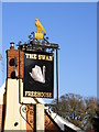 TM2677 : The Swan Public House sign by Adrian Cable