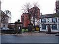 NS3975 : Riverside Parish Church Entrance, Dumbarton by wfmillar