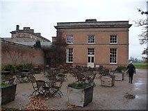 SJ5409 : Tea-rooms inside Attingham Park in winter by Jeremy Bolwell