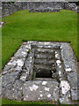 SN7465 : Stone lined basin in the monks' choir, Strata Florida Abbey by Phil Champion