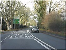 SJ6651 : London Road at the entrance to Stapeley Water Gardens by Peter Whatley