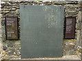 SN7465 : Memorial to Dafydd ap Gwilym at Strata Florida abbey church by Phil Champion
