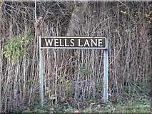 TM2482 : Wells Lane sign by Adrian Cable