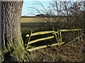 SK5721 : Post and rail fence by Alan Murray-Rust