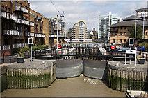 TQ3680 : Limehouse Lock by Richard Croft