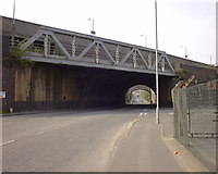SS6593 : Railway viaducts over New Cut Road, Swansea by vectorkraft
