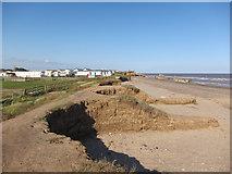 TA4115 : Eroding coastline, Kilnsea Warren by Hugh Venables