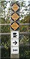 SP1562 : British Waterways signs by Robin Stott