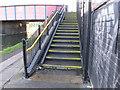 TQ2282 : Bridge 6 Paddington Arm, steps with cycle channel to Scrubs Lane by David Hawgood