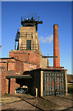 SK4964 : Pleasley Colliery - south shaft by Chris Allen