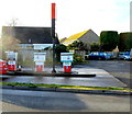 SO7403 : Three old-style Butler fuel pumps, Slimbridge by Jaggery