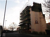 TQ2977 : Balmoral Castle, Churchill Gardens Estate by David Anstiss