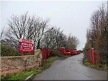 SE4832 : Entrance to scrapyard, New Lane by Christine Johnstone