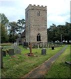 SO0725 : Medieval tower, Grade II listed Church of St Brynach, Llanfrynach by Jaggery