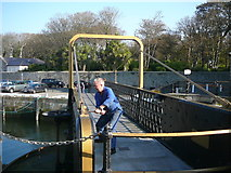 SC2667 : Opening the swing bridge at Castletown Harbour by Colin Park
