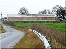 SE4630 : Unmapped new building, north of Westfield Lane by Christine Johnstone