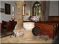 ST5312 : Font, St Michael's Church by Maigheach-gheal