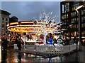 SJ8498 : Carousel and Christmas Illuminations, Piccadilly Gardens by David Dixon