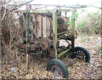 TG3204 : Remains of a Robert Boby Ltd corn dressing machine, Rockland St Mary by Evelyn Simak