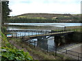 SK2592 : Agden Reservoir and the outflow by Andrew Hill