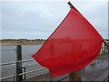 SZ1891 : Mudeford: red flag by The Run by Chris Downer