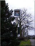 TG2219 : Stratton Road & The Chequers Public House sign by Adrian Cable