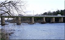 NZ1164 : Wylam Bridge from the west by Andrew Curtis