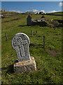 SW3531 : Gravestone, St.Helen's Oratory, Cape Cornwall by Guy Butler-Madden