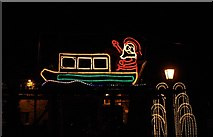 SO8171 : Christmas lights 2011 - Father Christmas, Lion Hill, Stourport-on-Severn by P L Chadwick