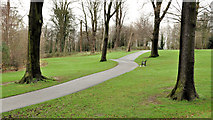 J3773 : Park seat and path, Belfast (2) by Albert Bridge
