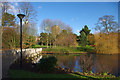 SP0584 : North end of the lake at the Vale, University of Birmingham by Phil Champion