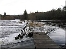 NH5043 : River Beauly flowing over the cruives by Craig Wallace