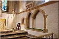 TQ5529 : Sedilia and Piscina, St Denys' church, Rotherfield by Julian P Guffogg