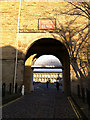 SE0925 : South gateway to the Piece Hall, Halifax, minus its gates by Phil Champion