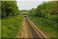 TQ3248 : Looking towards Bletchingley Tunnel by Ian Capper