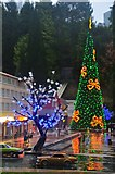 SX9265 : Torquay : Babbacombe Model Village - Christmas Tree by Lewis Clarke