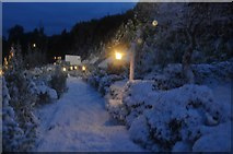 SX9265 : Torquay : Babbacombe Model Village - Snow Scene by Lewis Clarke