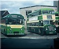 SU8650 : Two Buses at the former Aldershot Bus Depot by David Hillas