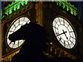 TQ3079 : London: one of Boadicea's horses and Big Ben by Chris Downer