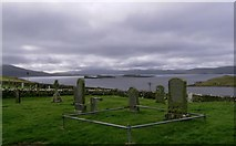 NG2261 : Gravestones in Trumpan Churchyard by Hilmar Ilgenfritz